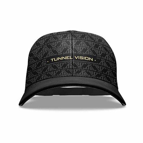 TV pattern Dad hat: Black