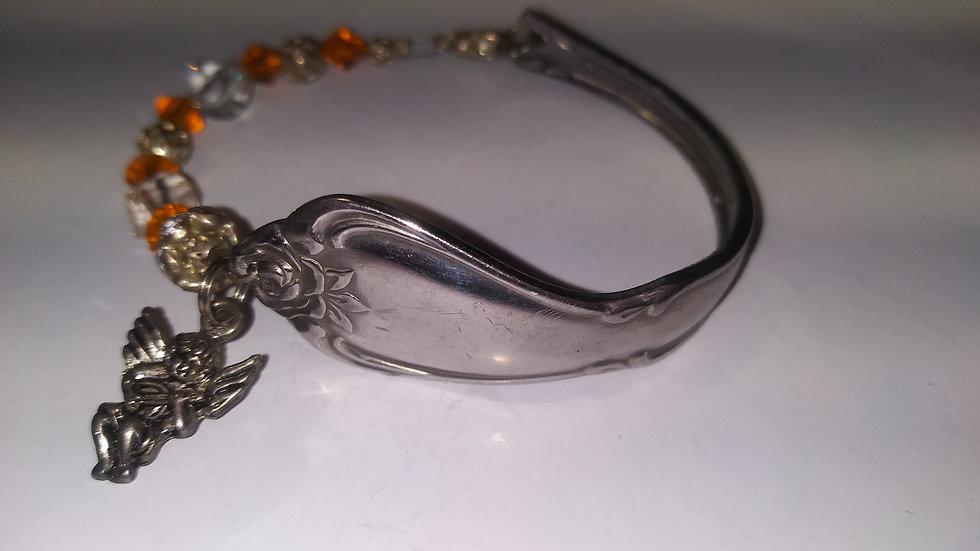 Orange spoon bracelet