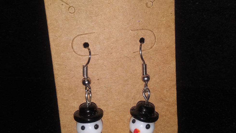 Cute snowmen earrings