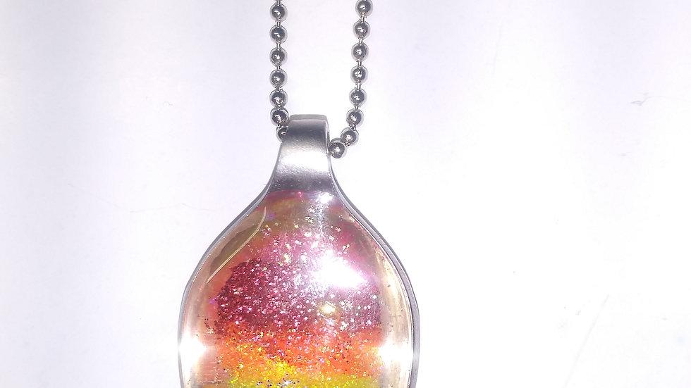 Rainbow spoon necklace