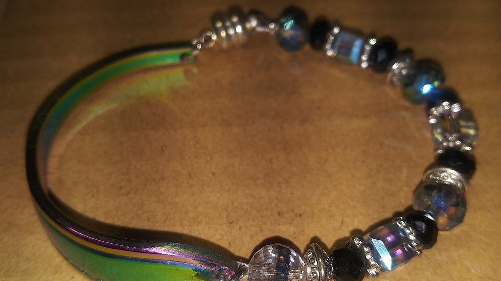 Multi colored spoon bracelet