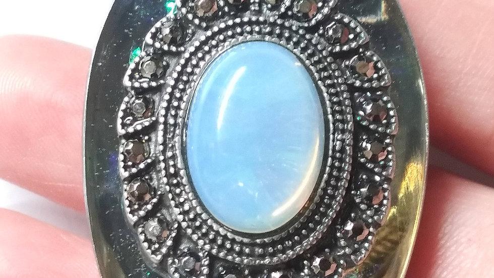 Opal like moonshine spoon necklace