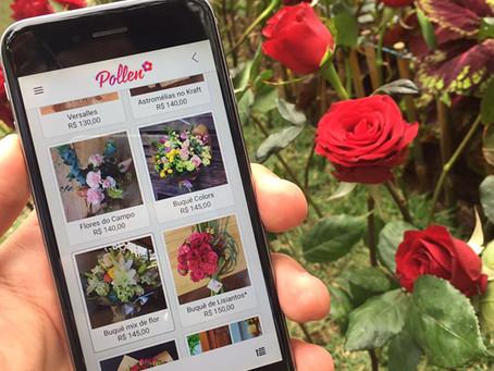 Pollen: o novo aplicativo para enviar flores dos melhores floristas locais no Brasil