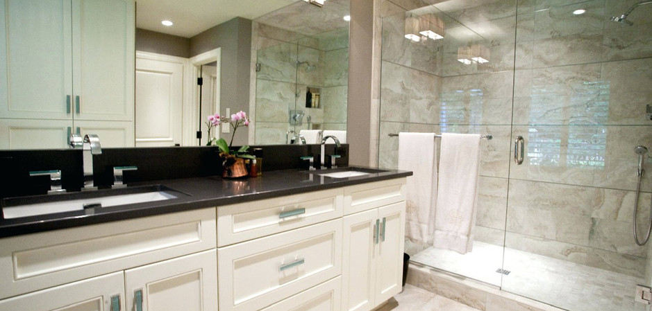 Full Bathroom Black Granite Vanity