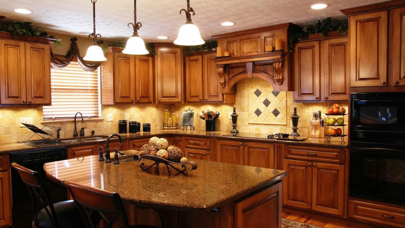 Fall Themed Granite Kitchen