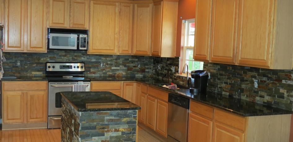 Stone Kitchen Backsplash