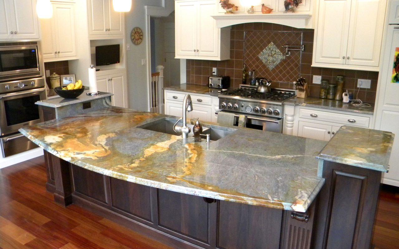 Full Curved Granite Countertop
