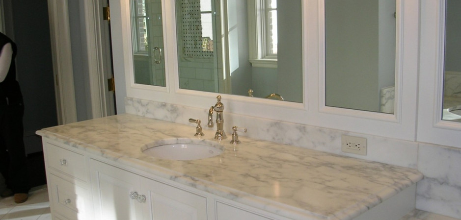 White Granite Vanity Top