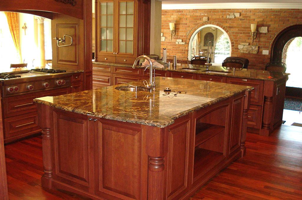 Sleek Brown Granite Countertop