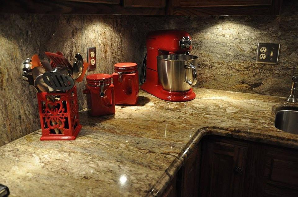 Granite Countertop and Matching Backsplash