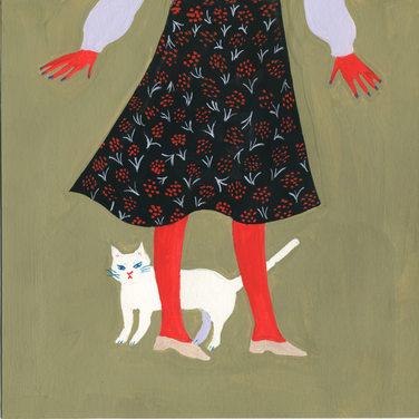 猫とスカート