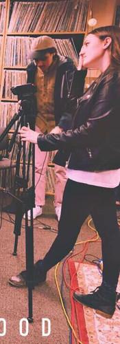 Julian being interviewed at WHUS recording studio