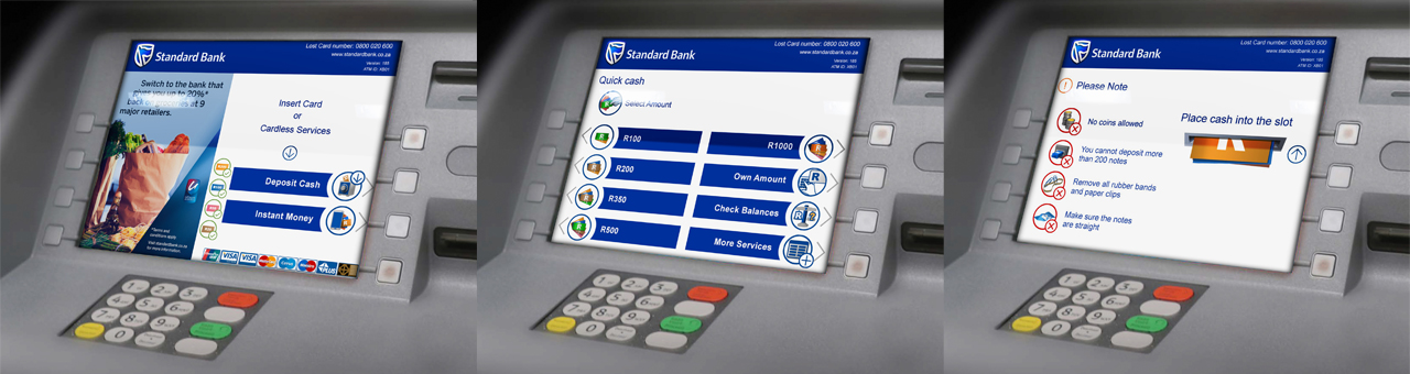 UI - Bank ATM screens