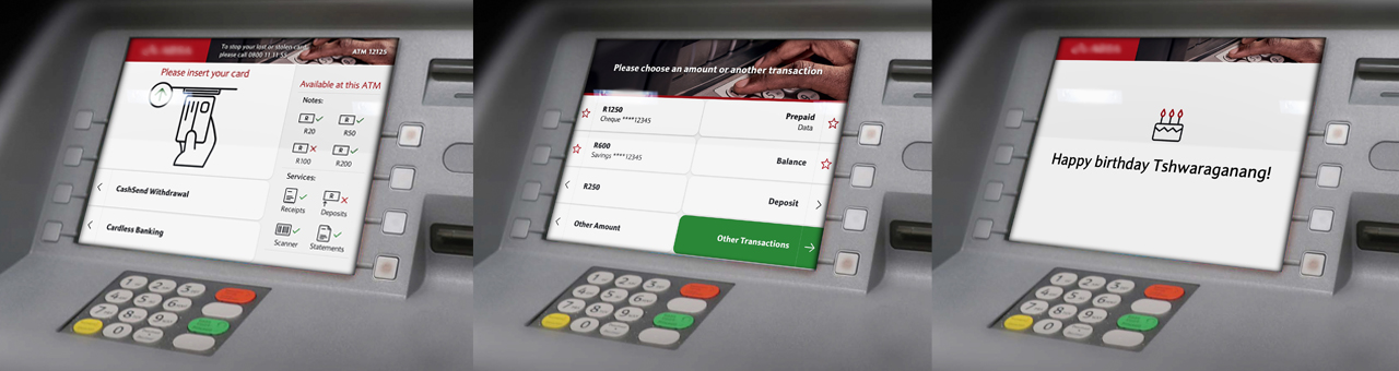 UX/UI - Bank ATM screens