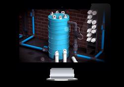 Industrial water chlorinator