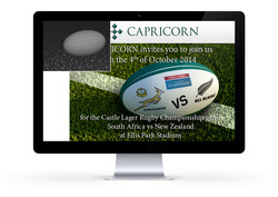 Rugby game invite