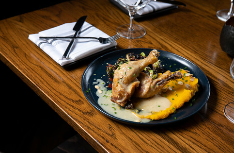 Crispy Chicken Confit - Thyme Table