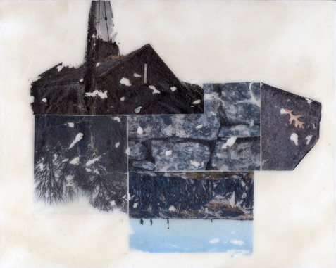 Encaustic Collage - Temporality of Place and Perception