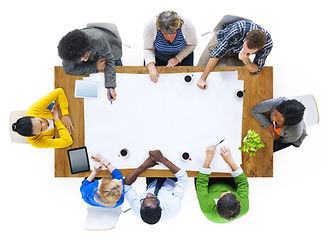 Group of Multiethnic People Planning a N