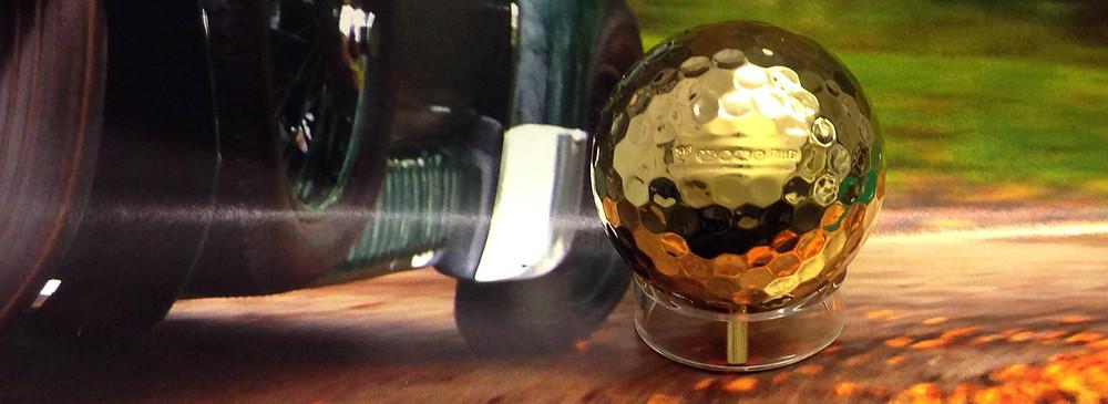 Luxury Hallmarked Silver Golf Ball Image