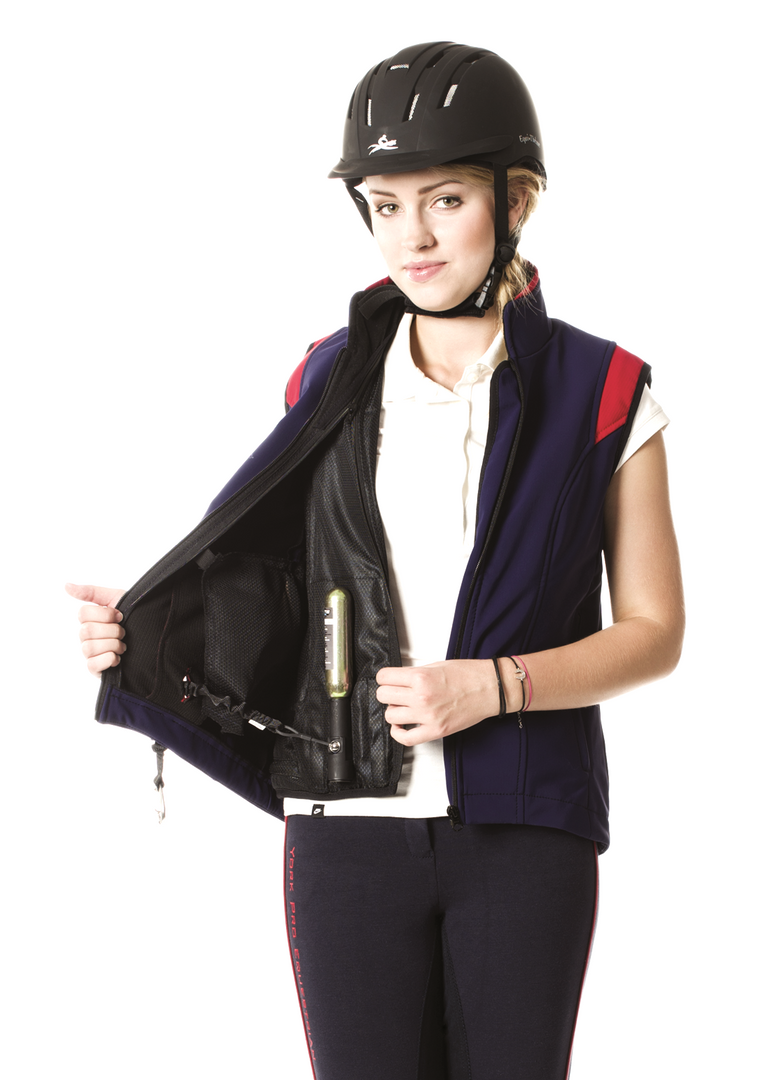 Airshell Gilet blue and red_cartridge (3