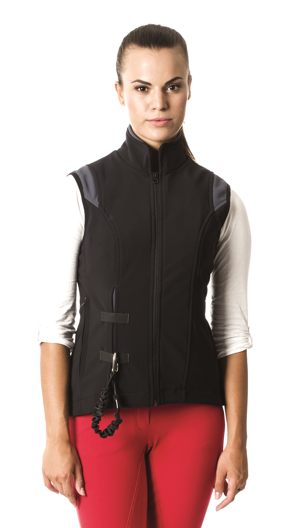 Airshell Gilet_black and gray_A_brunette