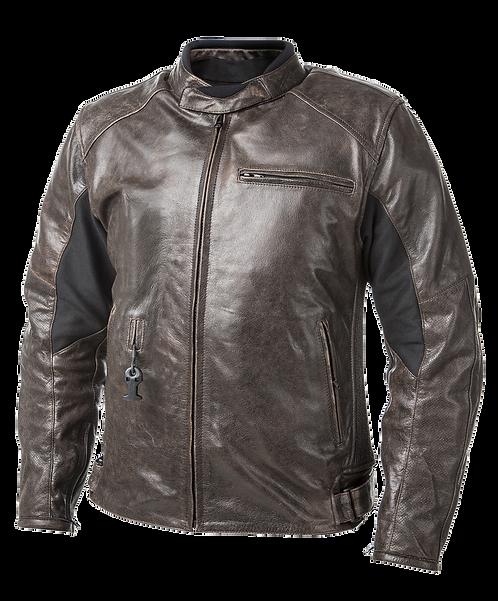 Helite Roadster Leather Airbag Jacket - [Vintage-Brown]