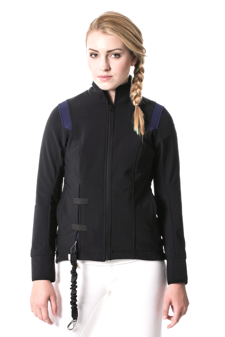 Airshell Blouson_black and blue_A_blonde