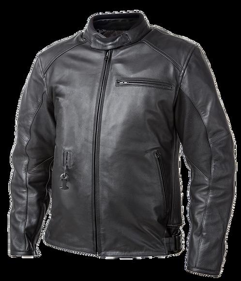 Helite Roadster Leather Airbag Jacket - Black