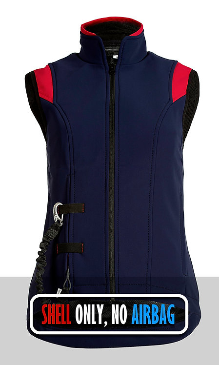 Airshell Gilet Shell Only - Blue Red