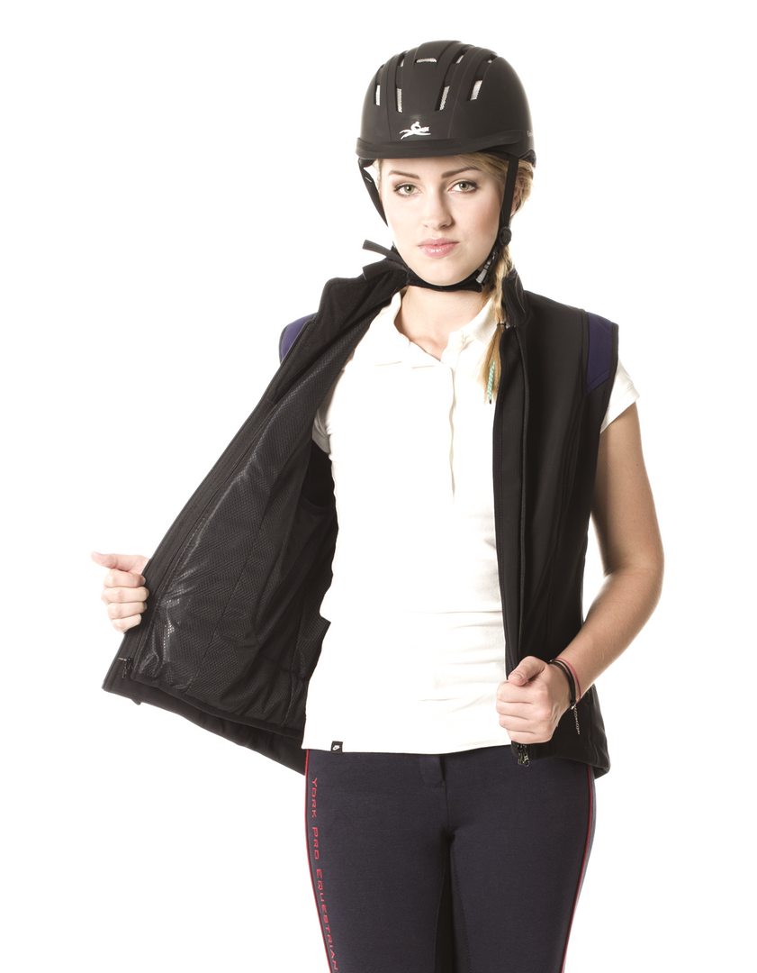 Airshell Gilet_black and blue_zip'in_blo