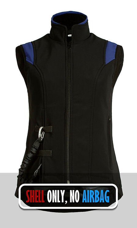 Airshell Gilet Shell Only - Black Blue