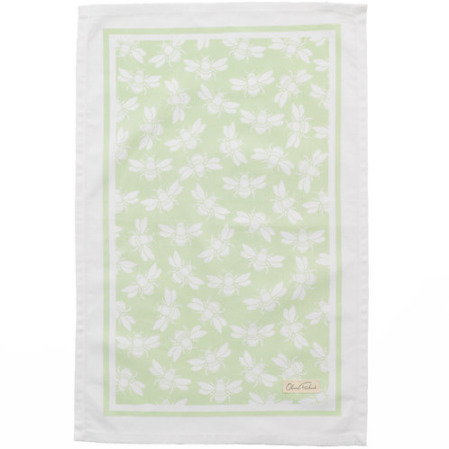 Bee Teatowel, Green
