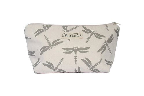 Dragonfly Canvas Wash Bag