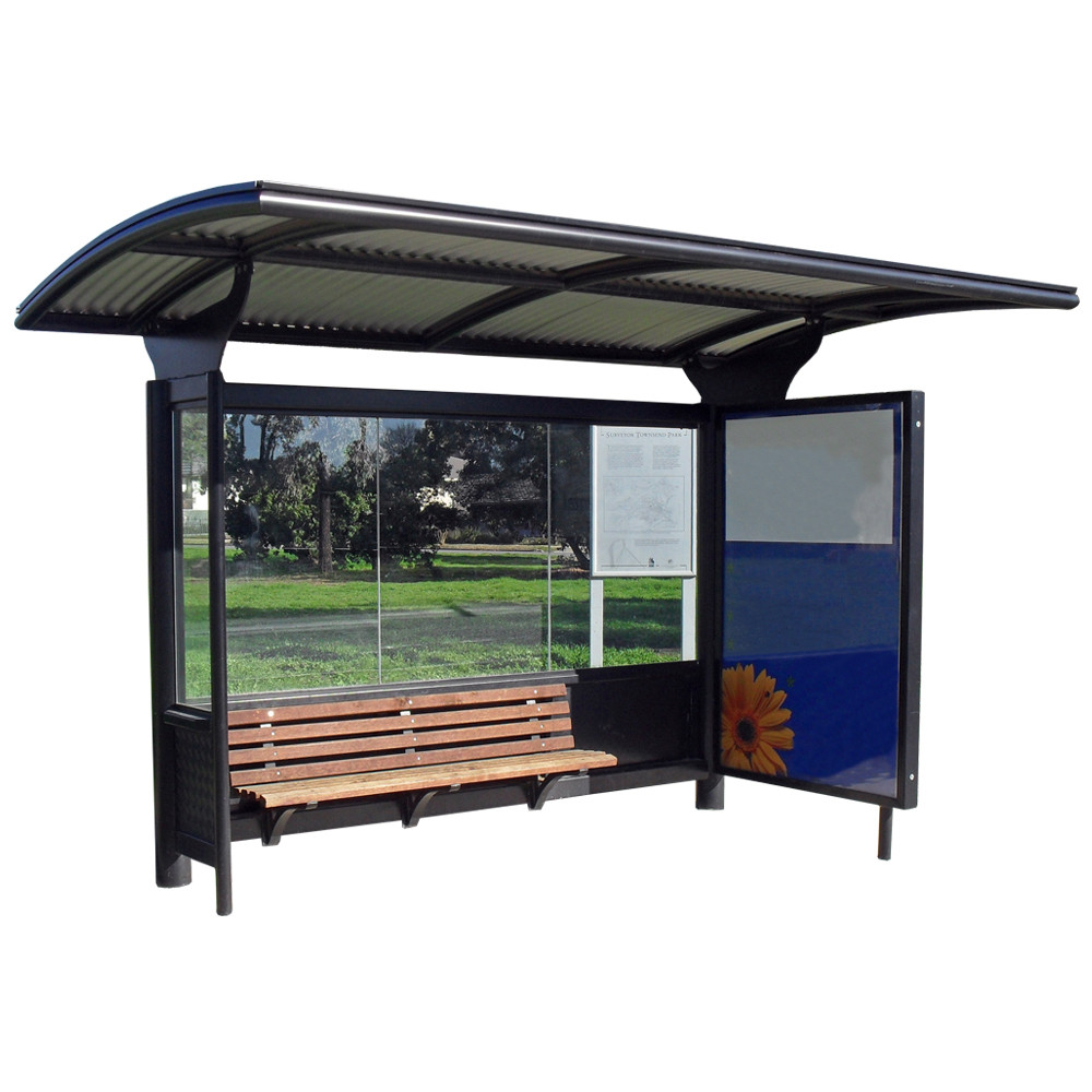solar-high-quality-used-bus-shelter-proj