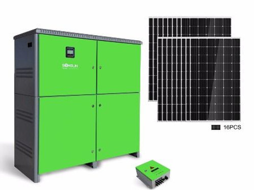 ASPS 901  10kW all-in-one solar power system, completed solar power system