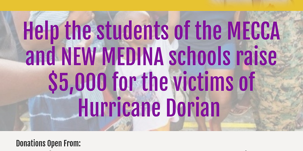 Hurricane Dorian Relief Drive
