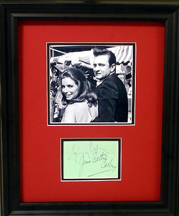 Johnny Cash and June Carter Cash autographs