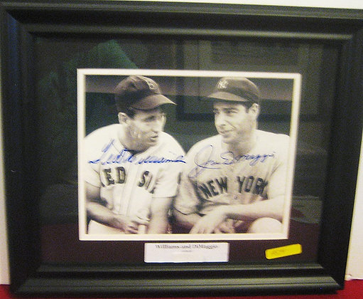 Ted Williams and Joe DiMaggio autograped photo