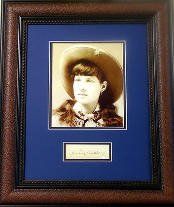 Annie Oakly autographed cut