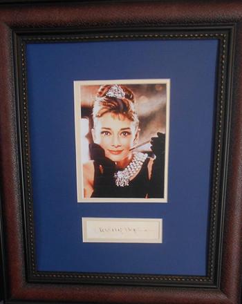 Hepburn autograph
