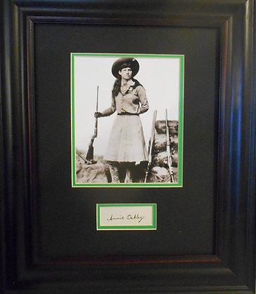 Annie Oakley autograph cut
