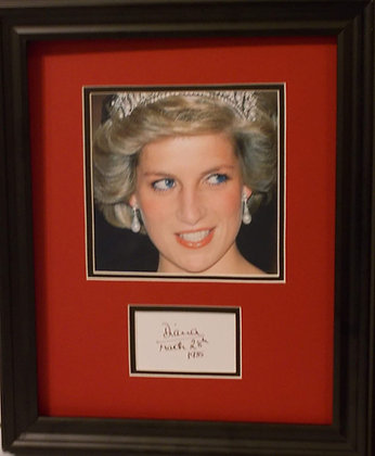 Princess Diana autograph