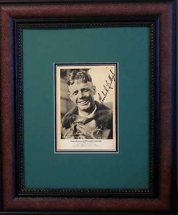 Charles Lindbergh autographed photo