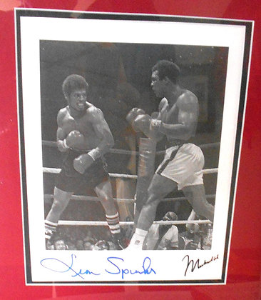 Mohammad Ali and Spinx autographed photo