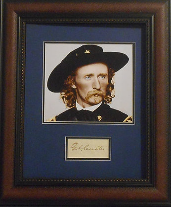 George Armstrong Custer autograph