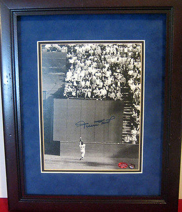 Willie Mays autographed photo