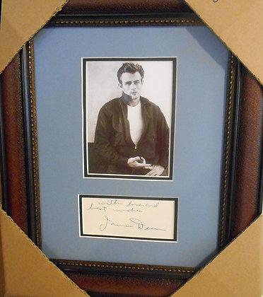 James Dean autograph