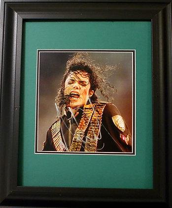 Michael Jackson autographed photo