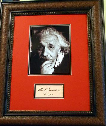 Albert Einstein autograph